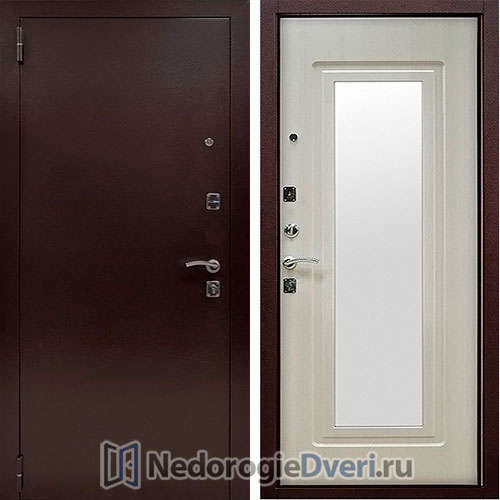 Входная дверь Стоп Царское Зеркало Беленый дуб