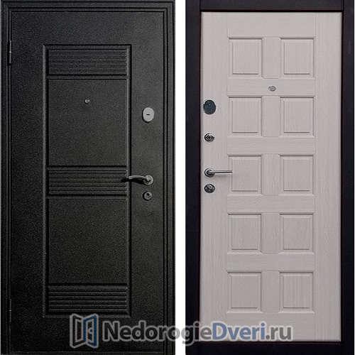 Входная дверь Стоп Троя Щит Беленый Дуб