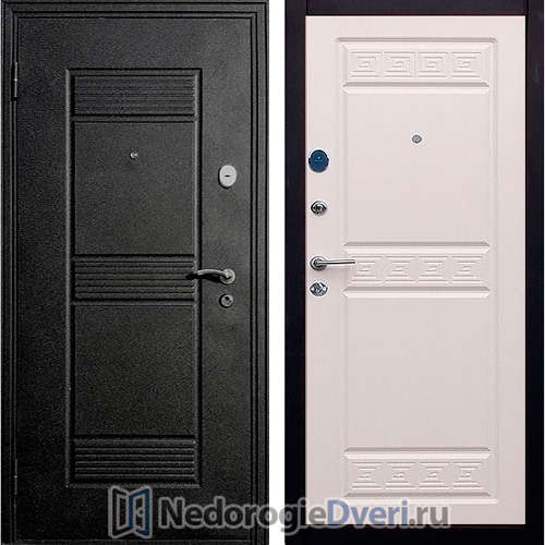 Входная дверь Стоп Афина Беленый Дуб ТРИ КОНТУРА УПЛОТНЕНИЯ
