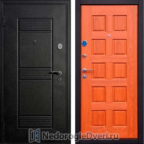 Входная дверь Стоп Троя Щит Золотистый Дуб