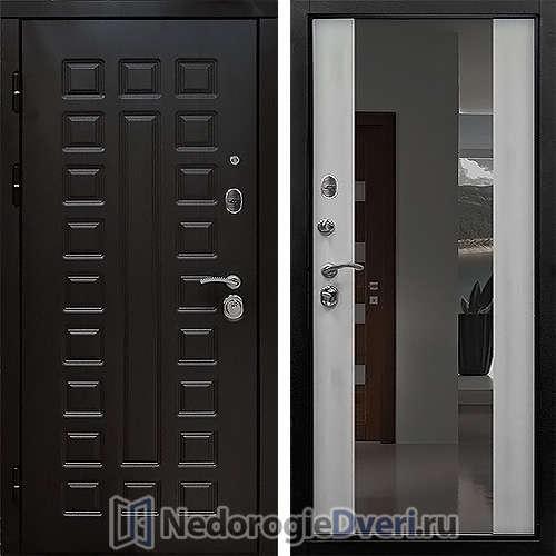 Входная дверь Сенатор 2К с Зеркалом Лиственница Белая