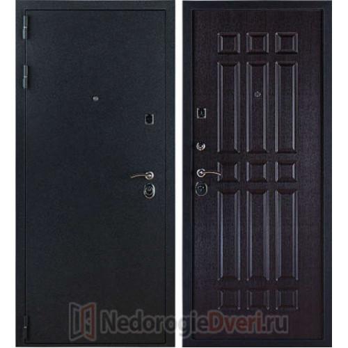 Входная металлическая дверь 3К Лайт Черный Бархат Венге