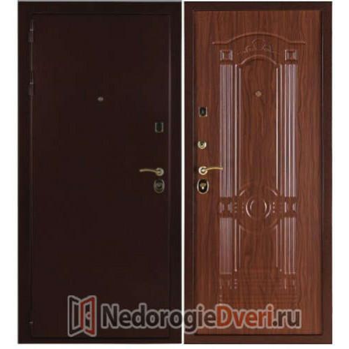 Входная металлическая дверь 3К Лайт Орех Тисненый