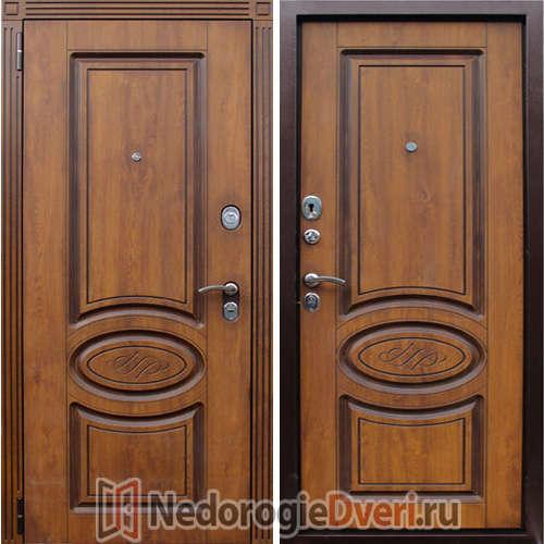 Входная металлическая дверь Орион Винорит Голден Патина