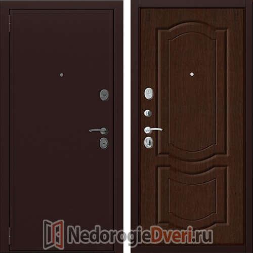 Входная металлическая дверь Zetta Евро 2/Б2 Тёмный Орех