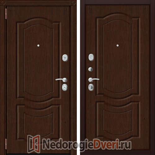 Входная металлическая дверь Zetta Комфорт 3/МАХ Орех Тёмный