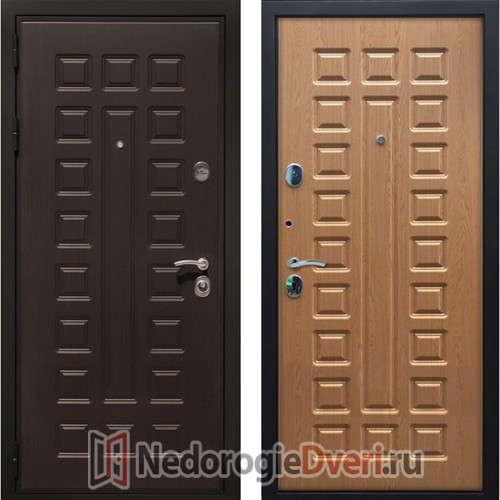 Входная металлическая дверь Art-Lock 4G Дуб Светлый ТРИ КОНТУРА УПЛОТНЕНИЯ