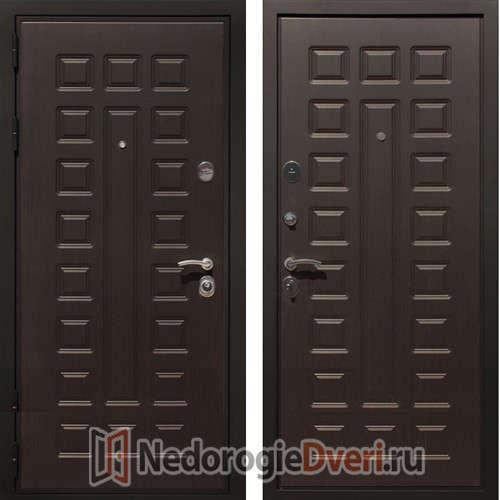 Входная металлическая дверь Art-Lock 4G Венге ТРИ КОНТУРА УПЛОТНЕНИЯ