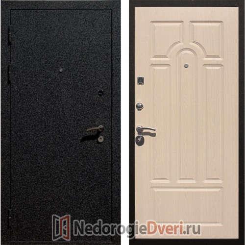 """Входная металлическая дверь """"Арт лок 1А беленый дуб"""""""