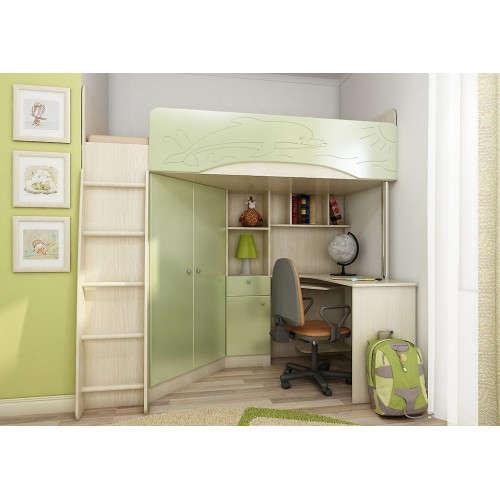 Модульная детская мебель Б-4М Зелёный металлик