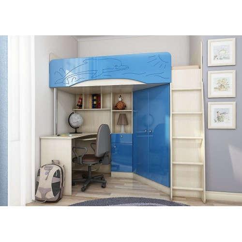 Модульная детская мебель Б-4М Голубой металлик