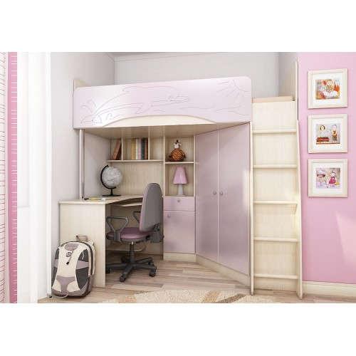 Модульная детская мебель Б-4М Розовый металлик