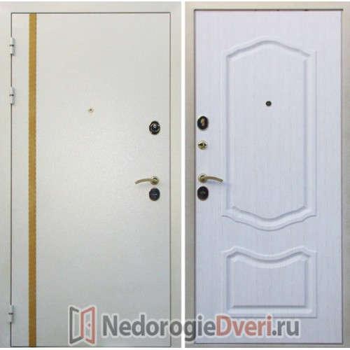 Входная металлическая дверь Юг Белая Кассандра ТРИ КОНТУРА