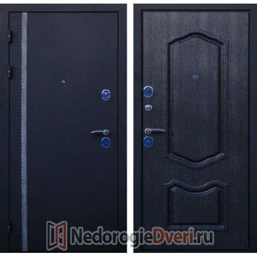 Входная металлическая дверь Юг Чёрная Кассандра ТРИ КОНТУРА УПЛОТНЕНИЯ