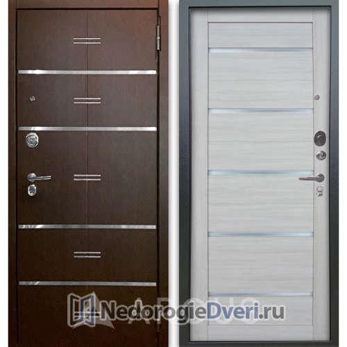 Входная дверь Аргус Люкс АС 2П Лайн Венге/Александра Буксус