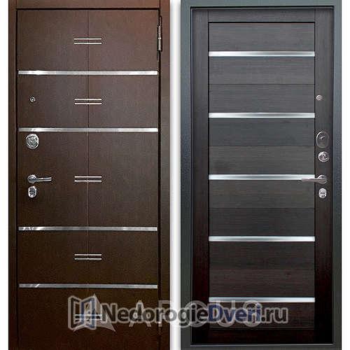 Входная дверь Аргус Люкс АС 2П Лайн Венге/Александра Вельвет