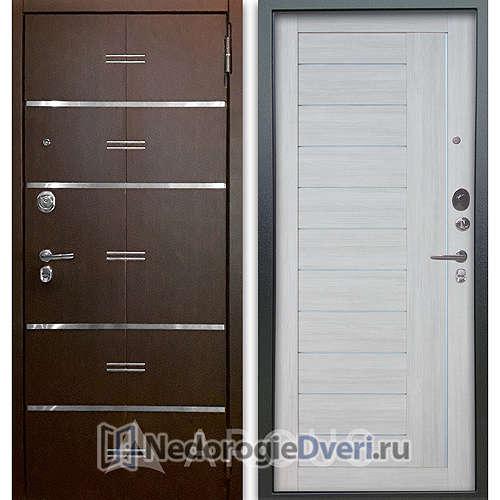 Входная дверь Аргус Люкс АС 2П Лайн Венге/Диана Буксус