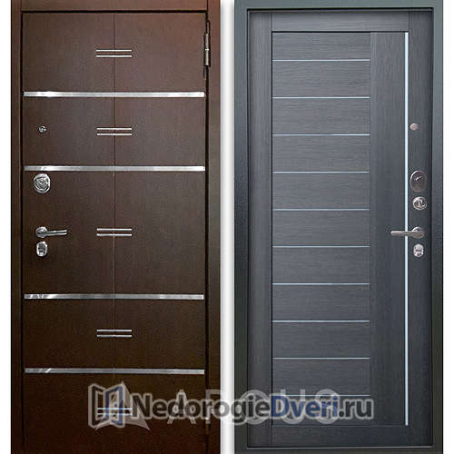 Входная дверь Аргус Люкс АС 2П Лайн Венге/Диана Лунная ночь