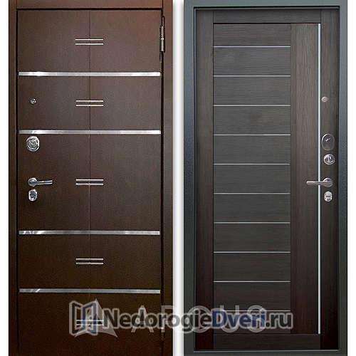 Входная дверь Аргус Люкс АС 2П Лайн Венге/Диана Вельвет