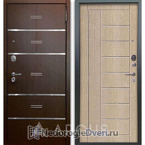 Входная дверь Аргус Люкс АС 2П Лайн Венге/Фриза Капучино