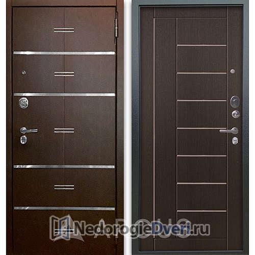 Входная дверь Аргус Люкс АС 2П Лайн Венге/Фриза Венге тисненый