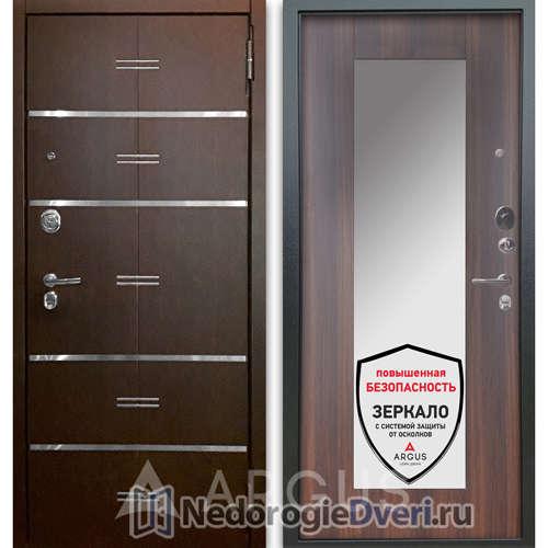 Входная дверь Аргус Люкс АС 2П Лайн Венге/Милли Коньяк Калифорния