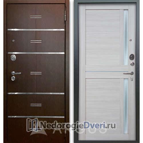 Входная дверь Аргус Люкс АС 2П Лайн Венге/Мирра Буксус