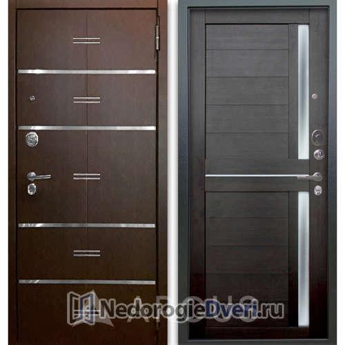 Входная дверь Аргус Люкс АС 2П Лайн Венге/Мирра Вельвет