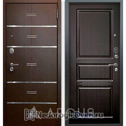 Входная дверь Аргус Люкс АС 2П Лайн Венге/Сабина Венге тисненый