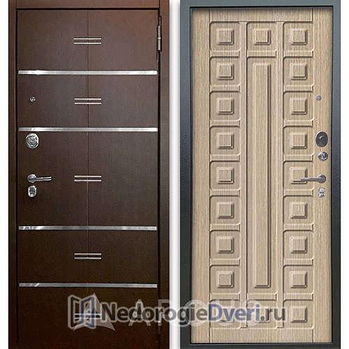 Входная дверь Аргус Люкс АС 2П Лайн Венге/Сенатор Капучино