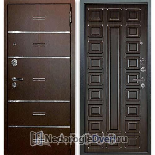 Входная дверь Аргус Люкс АС 2П Лайн Венге/Сенатор Венге тисненый