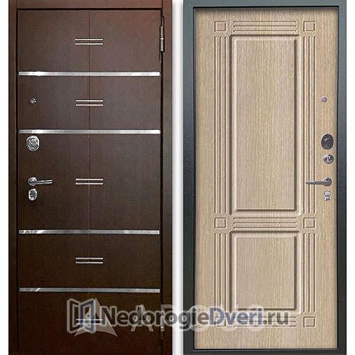 Входная дверь Аргус Люкс АС 2П Лайн Венге/Триумф Капучино