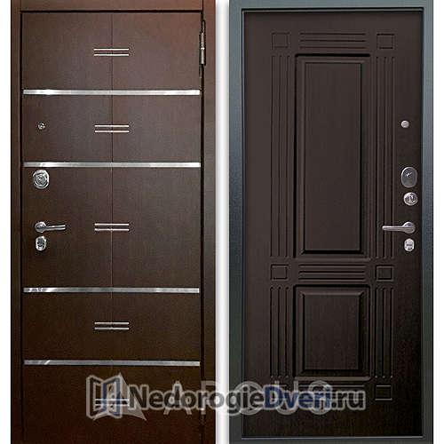 Входная дверь Аргус Люкс АС 2П Лайн Венге/Триумф Венге тисненый