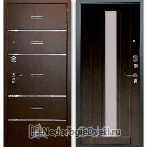Входная дверь Аргус Люкс АС 2П Лайн Венге/Владимир Венге