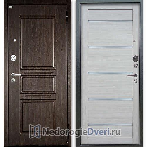 Входная дверь Argus/Аргус металлическая Люкс АС 2П Сабина Венге/Александра Буксус Размер 870*2050, 970*2050