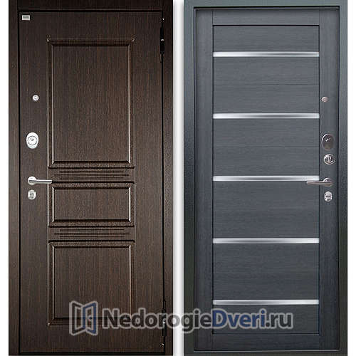 Входная дверь Аргус Люкс АС 2П Сабина Венге/Александра Лунная ночь