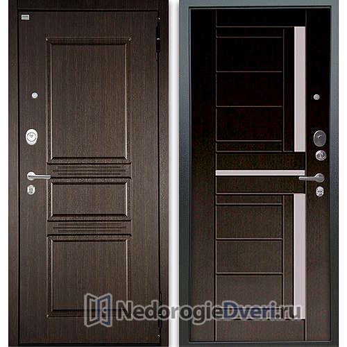 Входная дверь Аргус Люкс АС 2П Сабина Венге/Альфред Венге тисненый