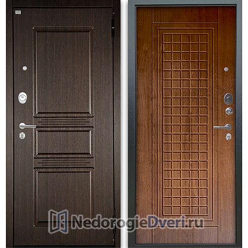 Входная дверь Аргус Люкс АС 2П Сабина Венге/Альма Дуб золотой