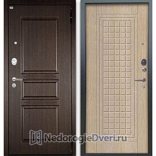 Входная дверь Аргус Люкс АС 2П Сабина Венге/Альма Капучино