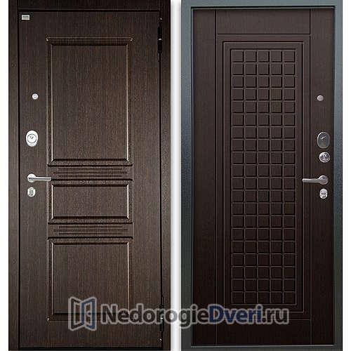 Входная дверь Аргус Люкс АС 2П Сабина Венге/Альма Венге тисненый