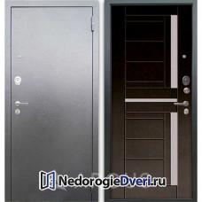 Входная дверь Аргус Люкс АС Серебро антик Альфред Венге тисненый