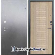 Входная дверь Аргус Люкс АС Серебро антик Альма Капучино
