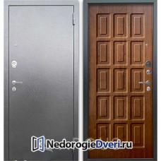Входная дверь Аргус Люкс АС Серебро антик Шоколад Дуб золотой