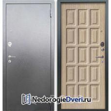 Входная дверь Аргус Люкс АС Серебро антик Шоколад Капучино