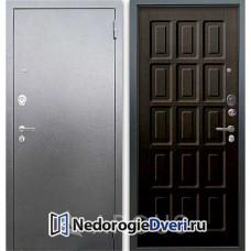 Входная дверь Аргус Люкс АС Серебро антик Шоколад Венге тисненый
