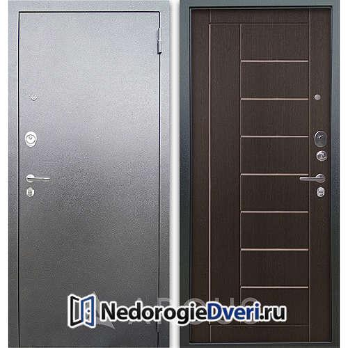 Входная дверь Аргус Люкс АС Серебро антик Фриза Венге тисненый