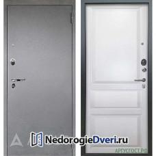 Входная дверь Аргус Люкс АС Серебро антик Каролина (Белая) Эмаль белая