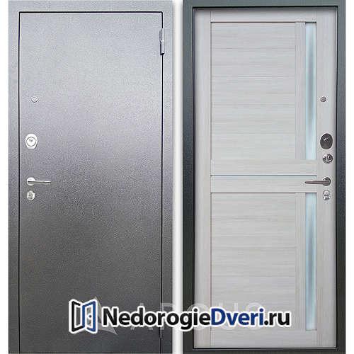 Входная дверь Аргус Люкс АС Серебро антик Мирра Буксус