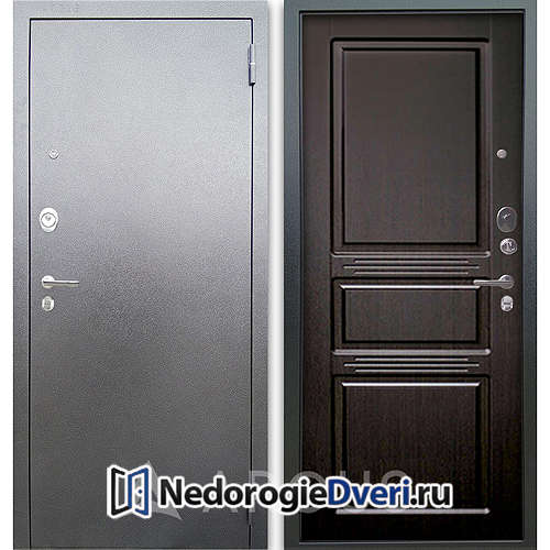 Входная дверь Аргус Люкс АС Серебро антик Сабина Венге тисненый