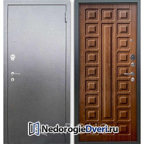 Входная дверь Аргус Люкс АС Серебро антик Сенатор Дуб золотой